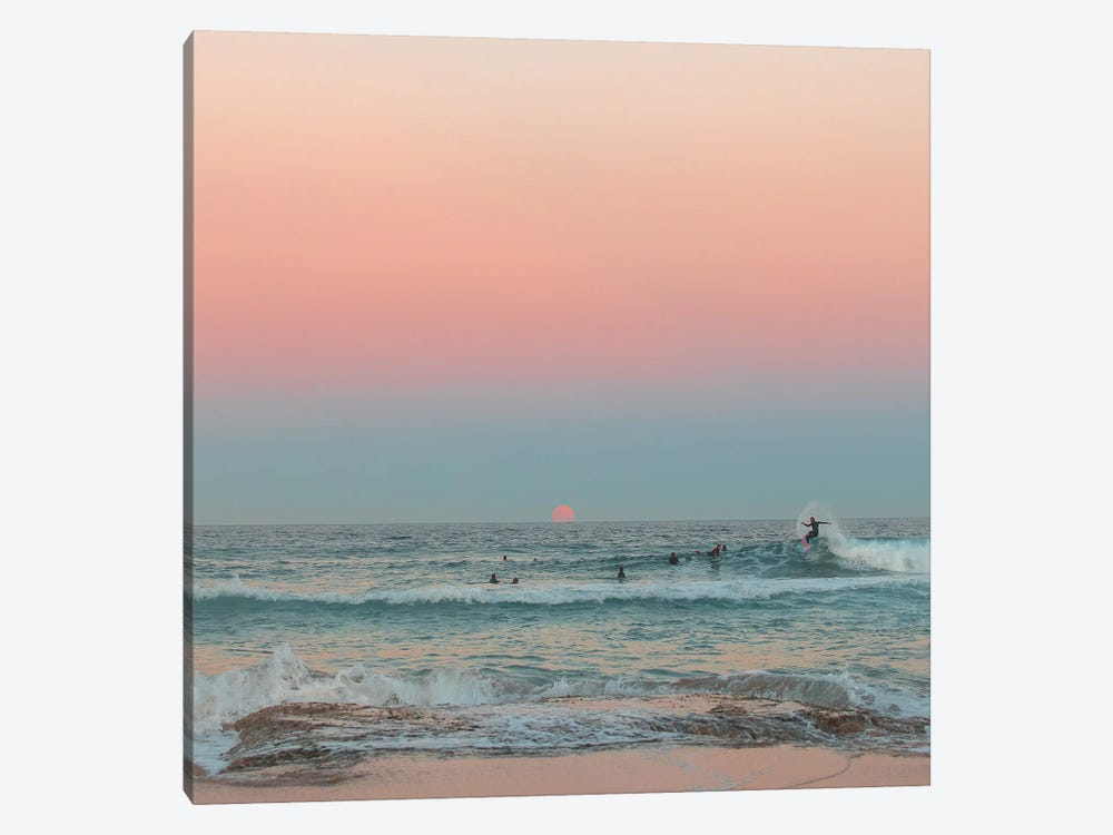 Sunrise Surf by Charlotte Curd 1-piece Canvas Wall Art