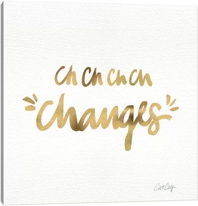 Changes Gold Artprint Canvas Print #CCE107