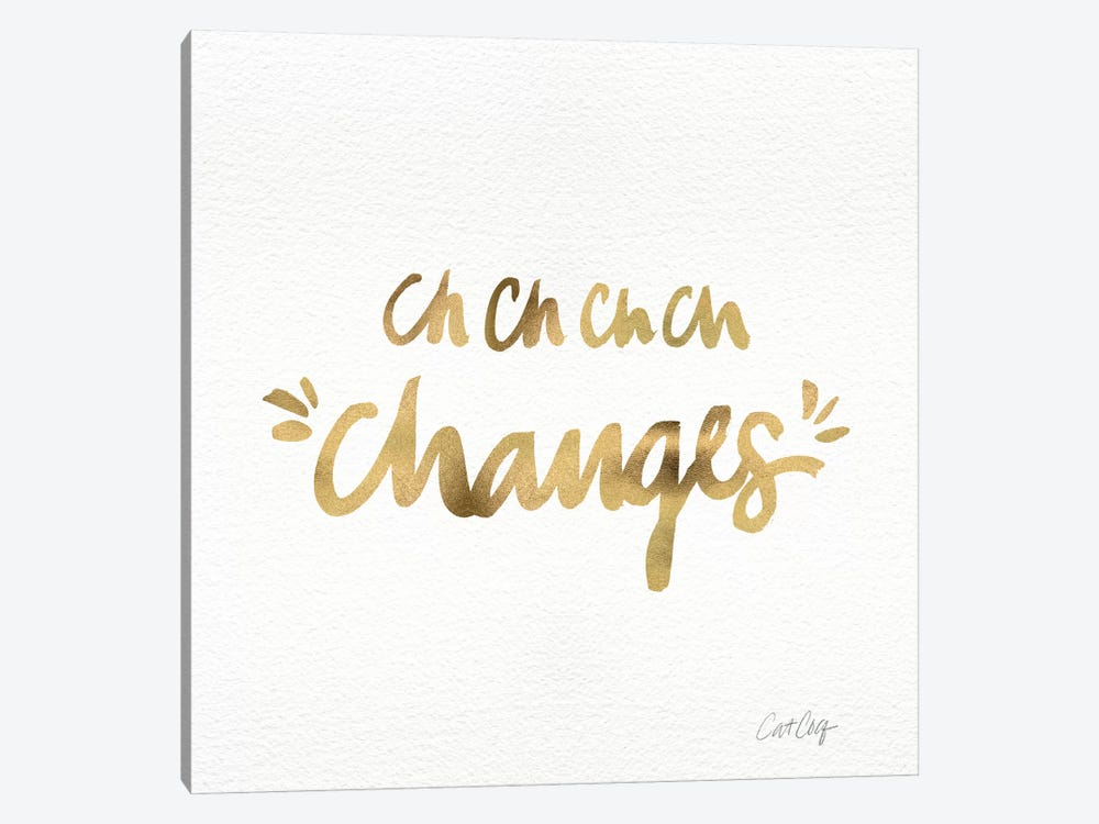Changes Gold by Cat Coquillette 1-piece Canvas Wall Art