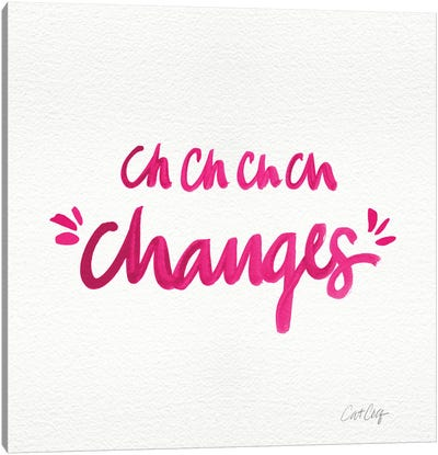 Changes Pink Canvas Art Print