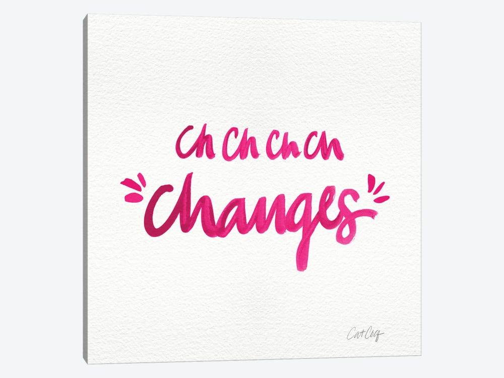 Changes Pink Artprint 1-piece Canvas Art Print