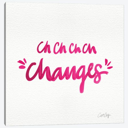 Changes Pink Canvas Print #CCE108} by Cat Coquillette Canvas Wall Art