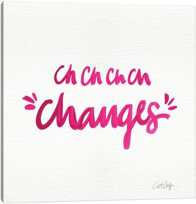 Changes Pink Canvas Art Print