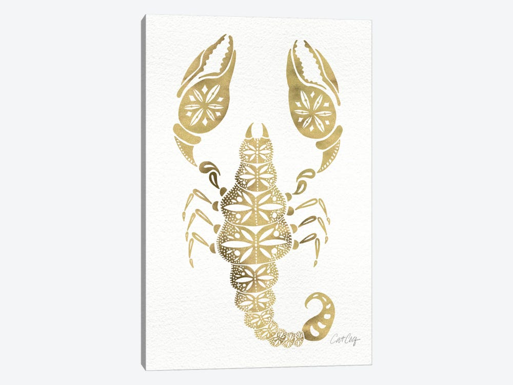 Gold Scorpion Artprint by Cat Coquillette 1-piece Canvas Print