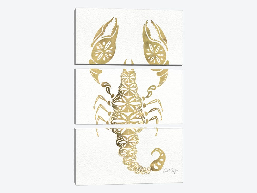 Gold Scorpion Artprint by Cat Coquillette 3-piece Art Print