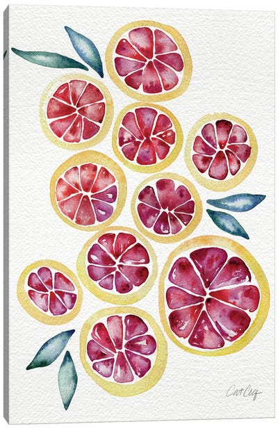 Grapefruits Artprint Canvas Art Print