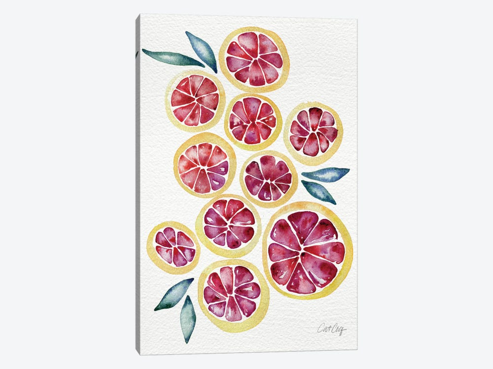 Grapefruits Artprint by Cat Coquillette 1-piece Canvas Art Print