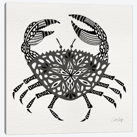 Grey Crab Artprint Canvas Print #CCE128} by Cat Coquillette Canvas Art