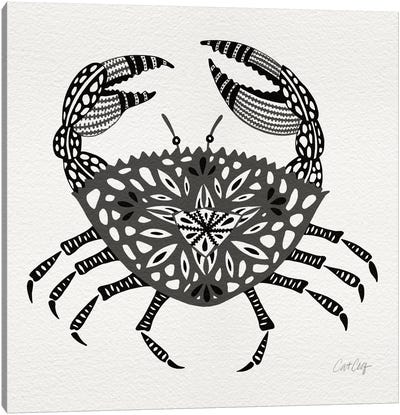Grey Crab Artprint Canvas Art Print