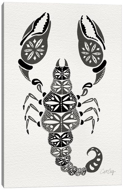 Grey Scorpion Artprint Canvas Art Print
