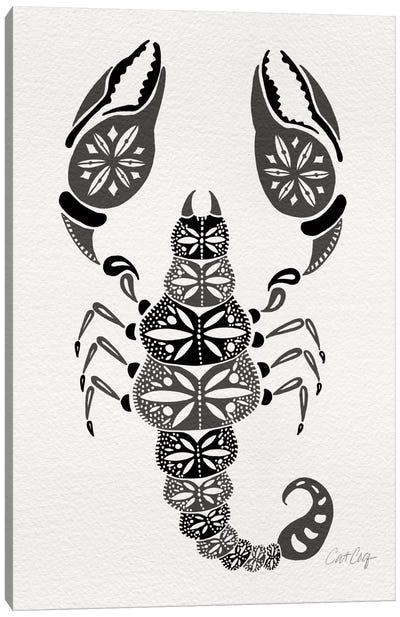 Grey Scorpion Canvas Art Print