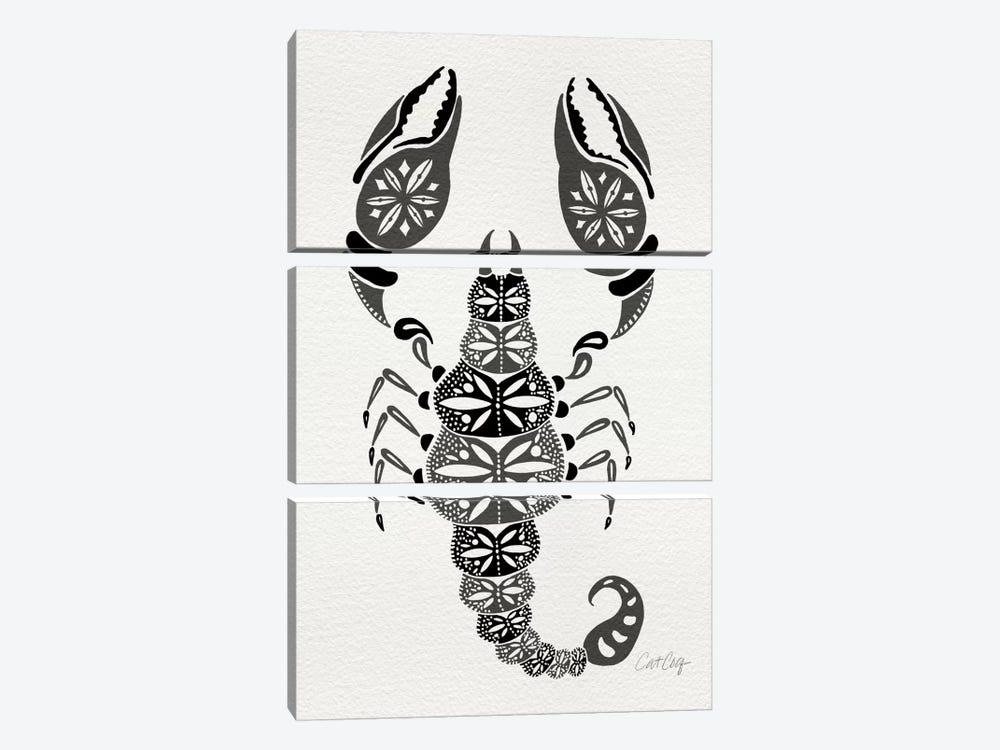 Grey Scorpion by Cat Coquillette 3-piece Canvas Art