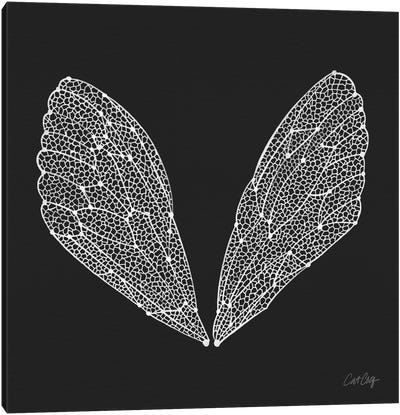 Cicada Wings White Artprint Canvas Print #CCE139
