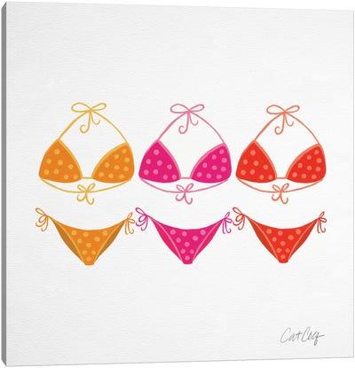 Bikini Pinks Artprint Canvas Print #CCE13