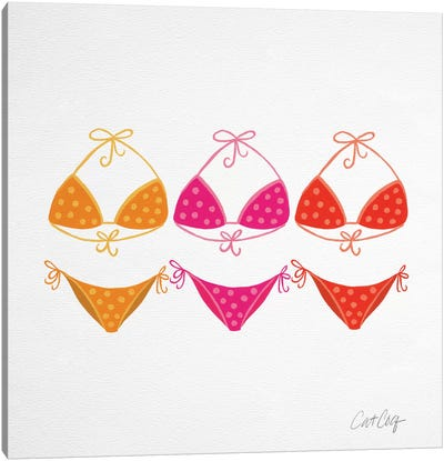 Bikini Pinks Canvas Art Print