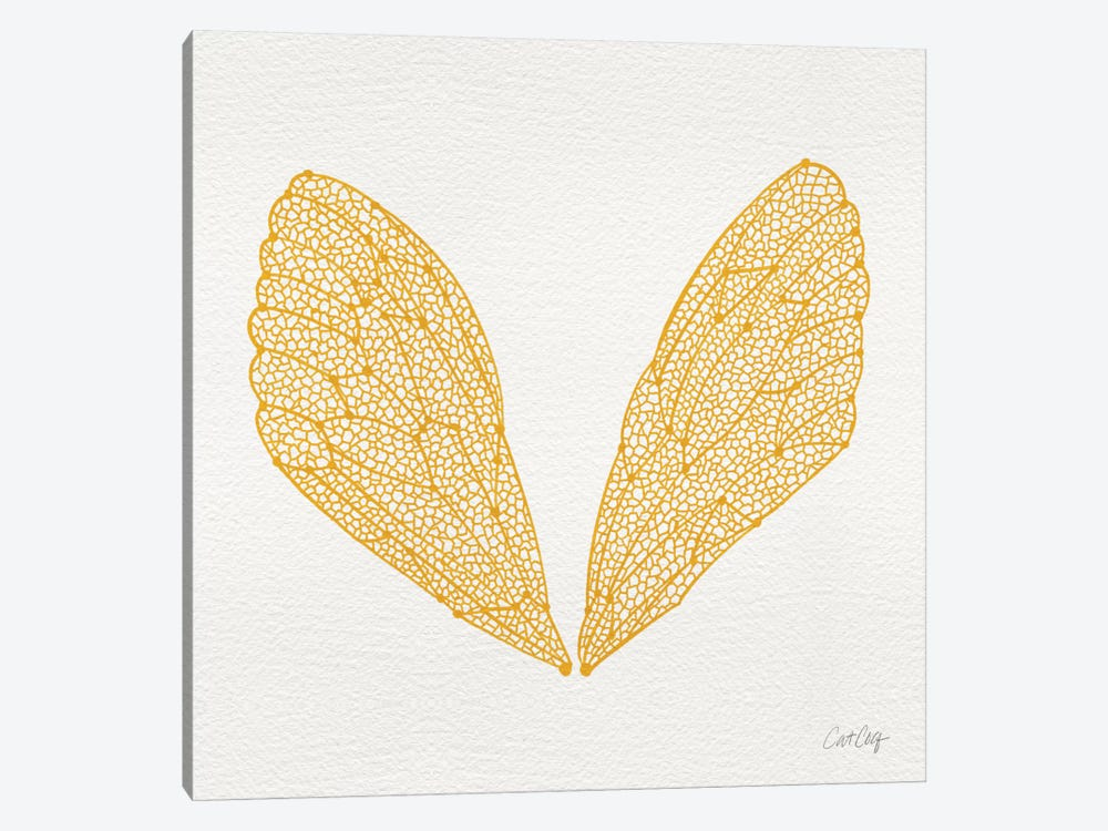 Cicada Wings Yellow by Cat Coquillette 1-piece Art Print