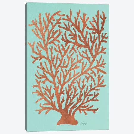 Copper Coral Artprint Canvas Print #CCE145} by Cat Coquillette Art Print