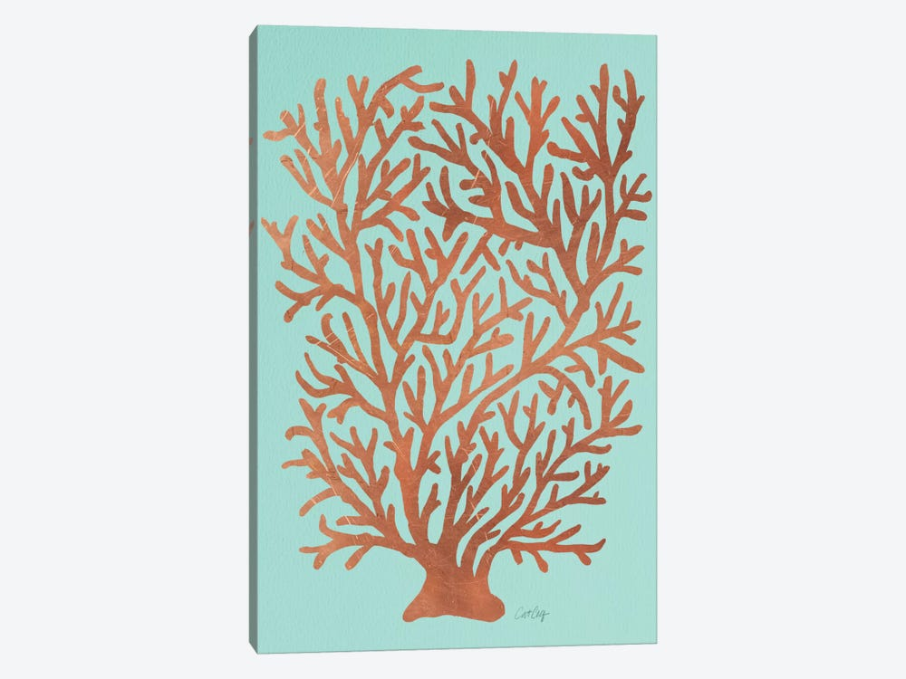 Copper Coral Artprint by Cat Coquillette 1-piece Canvas Artwork