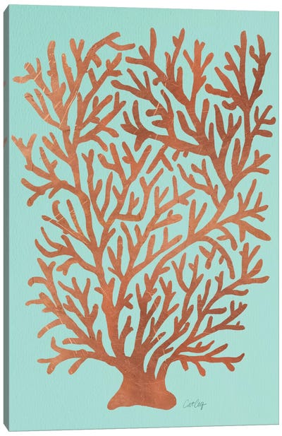 Copper Coral Canvas Art Print