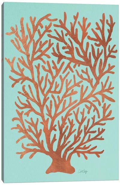 Copper Coral Canvas Art Print