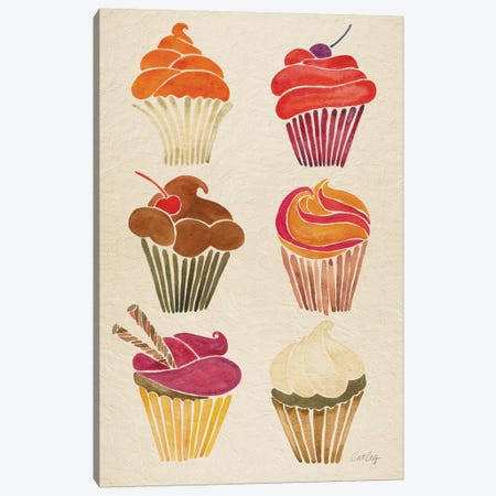 Cupcakes Canvas Print #CCE146} by Cat Coquillette Art Print