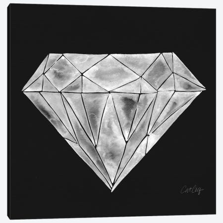 Diamond 3-Piece Canvas #CCE147} by Cat Coquillette Canvas Print