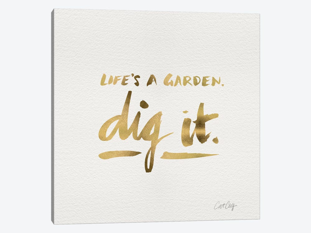 Dig It Gold Artprint 1-piece Canvas Wall Art