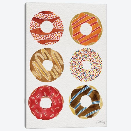Donuts Artprint II Canvas Print #CCE157} by Cat Coquillette Canvas Artwork