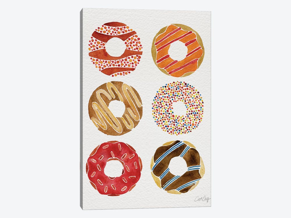 Donuts Artprint II by Cat Coquillette 1-piece Canvas Print
