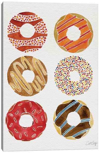 Donuts II Canvas Art Print