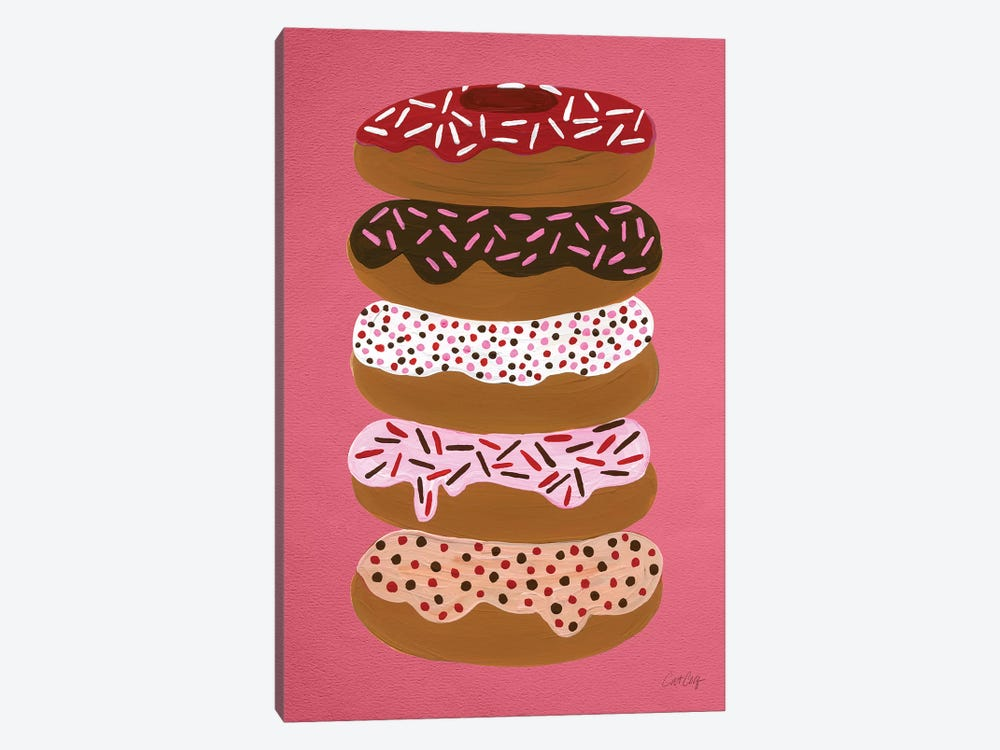 Donuts Stacked Cherry Artprint by Cat Coquillette 1-piece Canvas Art
