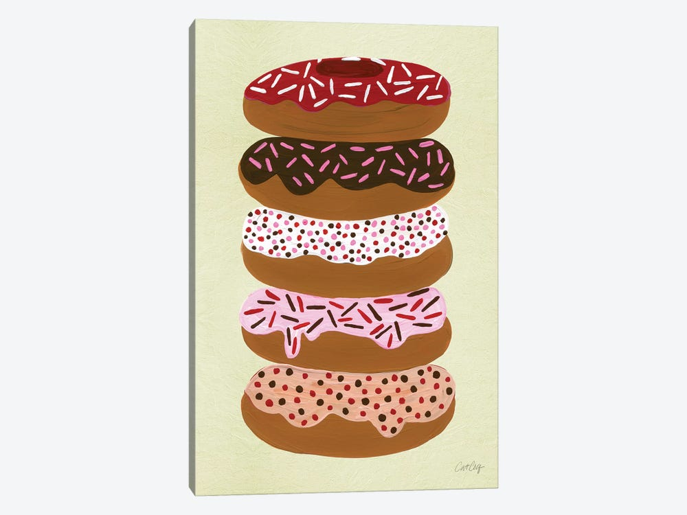 Donuts Stacked Cream by Cat Coquillette 1-piece Canvas Print