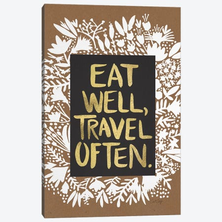 Eat Travel Artprint Canvas Print #CCE162} by Cat Coquillette Canvas Art