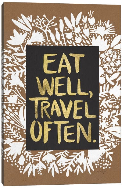 Eat Travel by Cat Coquillette Canvas Art Print