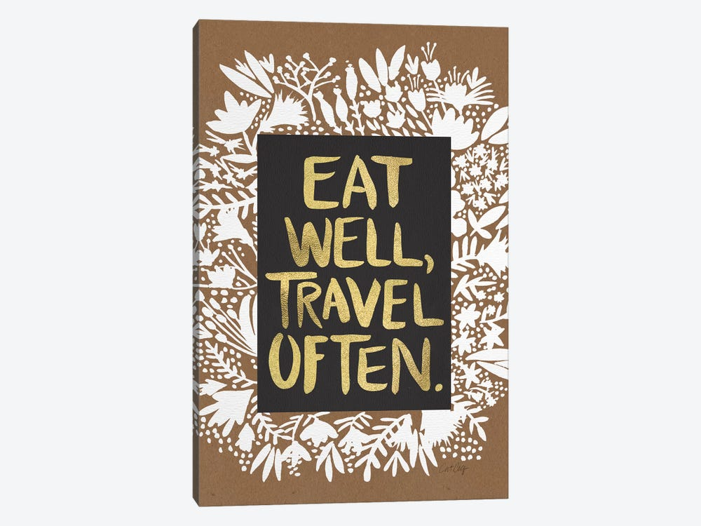 Eat Travel Artprint by Cat Coquillette 1-piece Canvas Art Print