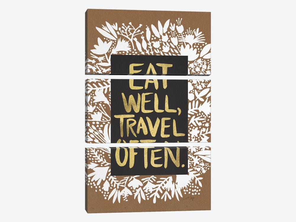 Eat Travel by Cat Coquillette 3-piece Canvas Print
