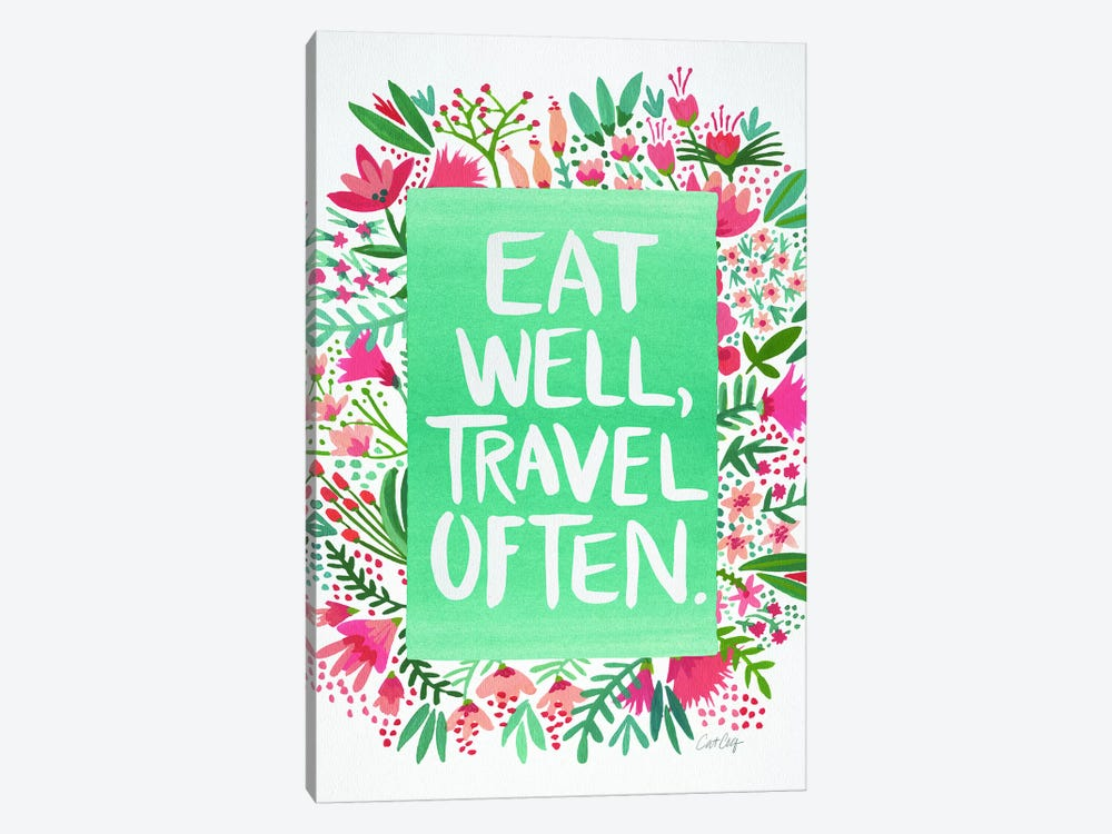 Eat Travel White by Cat Coquillette 1-piece Canvas Art