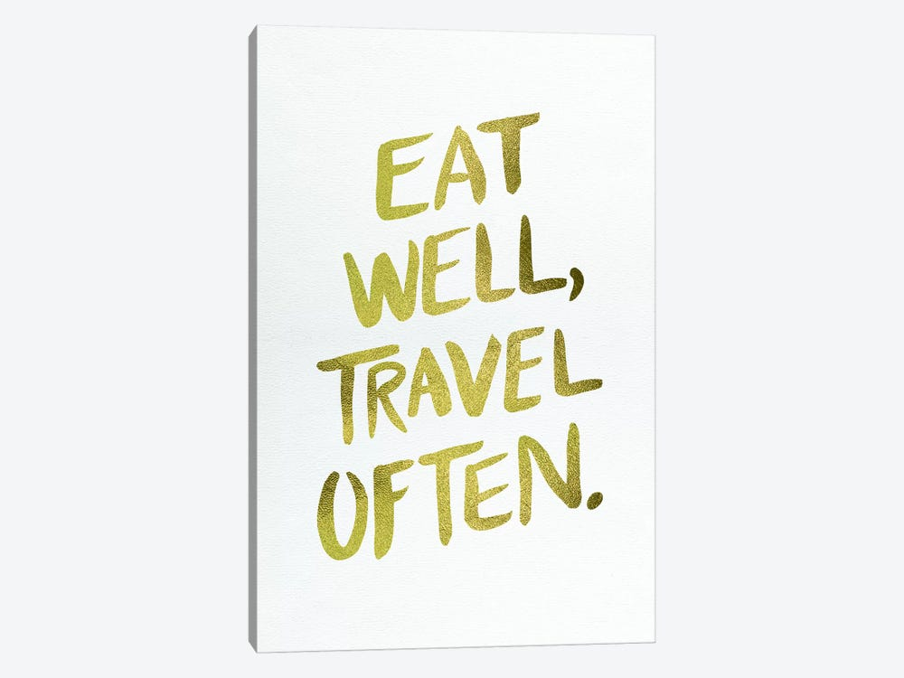 Eat Well Type Gold by Cat Coquillette 1-piece Canvas Art