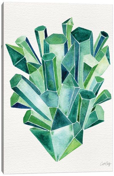 Emerald Artprint Canvas Print #CCE167
