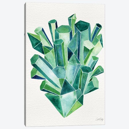 Emerald Canvas Print #CCE167} by Cat Coquillette Art Print