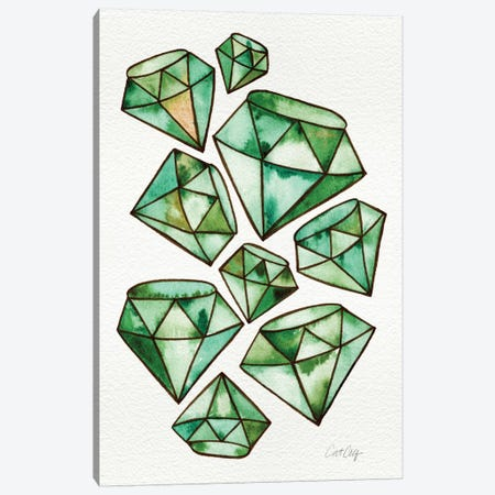 Emeralds Tattoos Artprint Canvas Print #CCE168} by Cat Coquillette Canvas Art