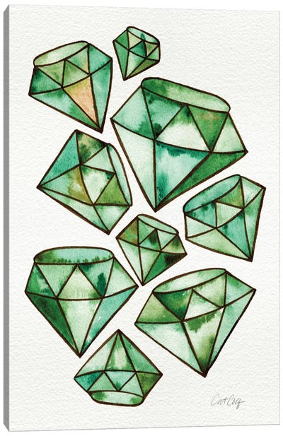 Emeralds Tattoos Artprint Canvas Print #CCE168