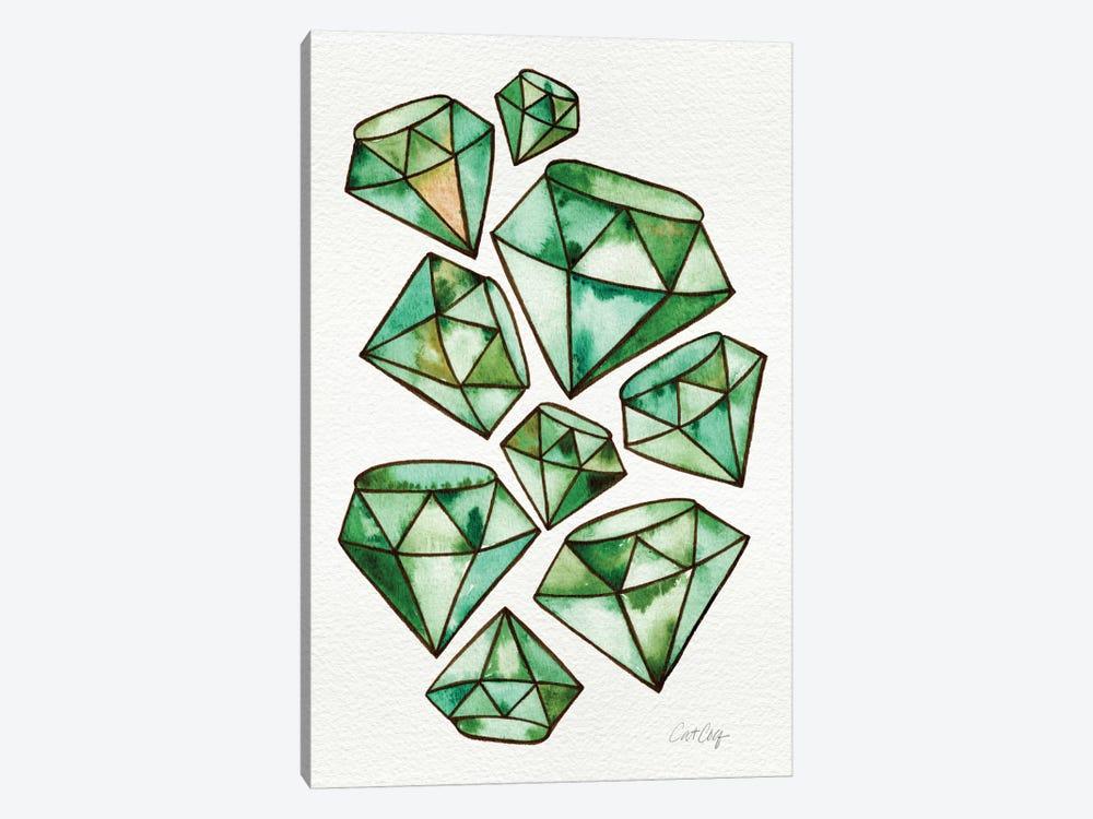 Emeralds Tattoos by Cat Coquillette 1-piece Canvas Art Print