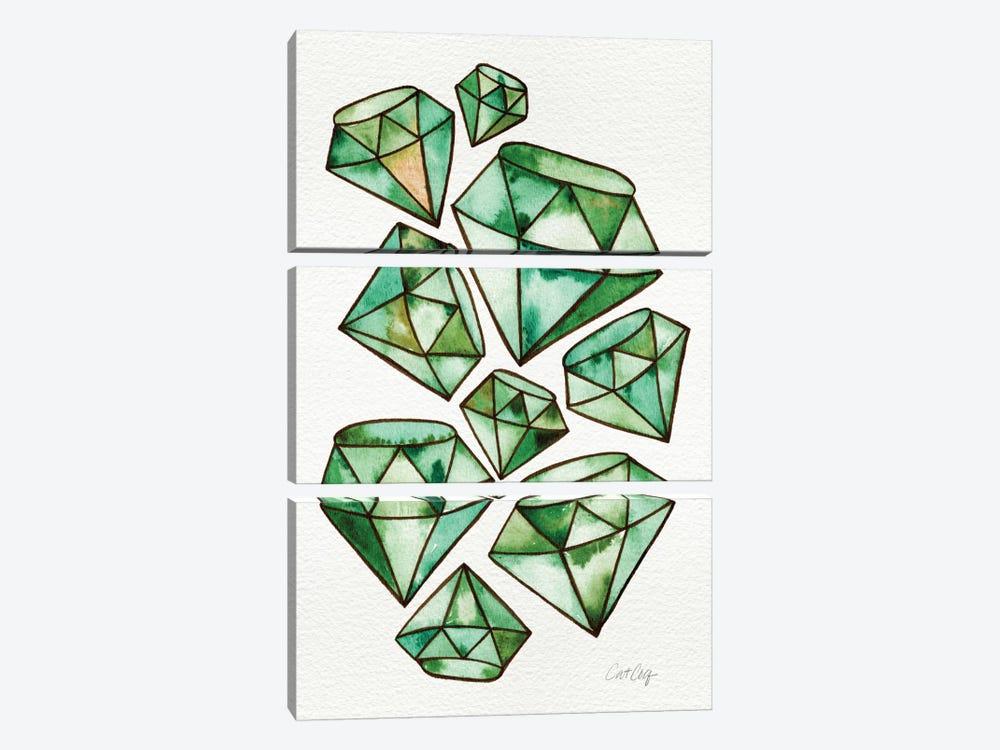 Emeralds Tattoos by Cat Coquillette 3-piece Canvas Art Print