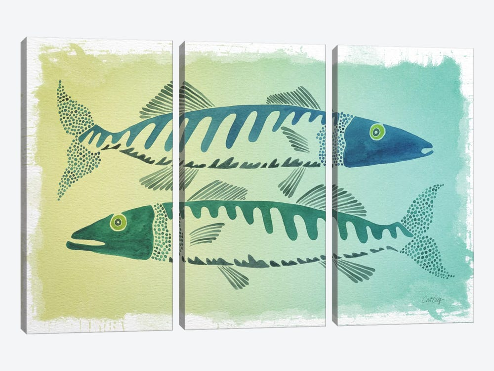 Fish Artprint by Cat Coquillette 3-piece Art Print