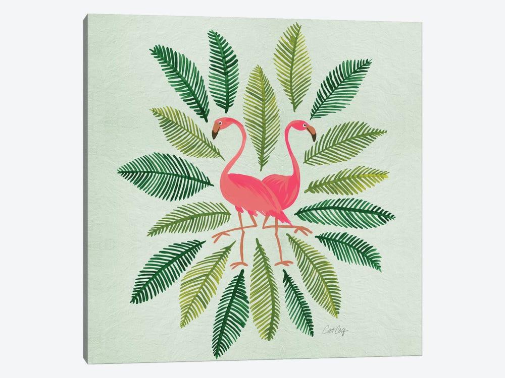 Flamingos Green by Cat Coquillette 1-piece Art Print