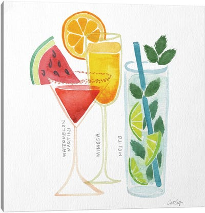 Summer Drinks Artprint Canvas Art Print