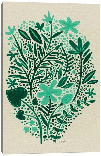 Garden Green Artprint Canvas Print #CCE190