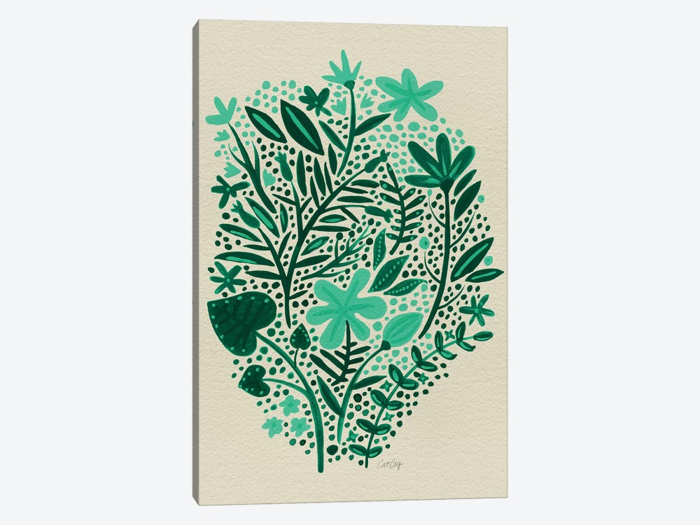 Garden Green Artprint 1-piece Canvas Art