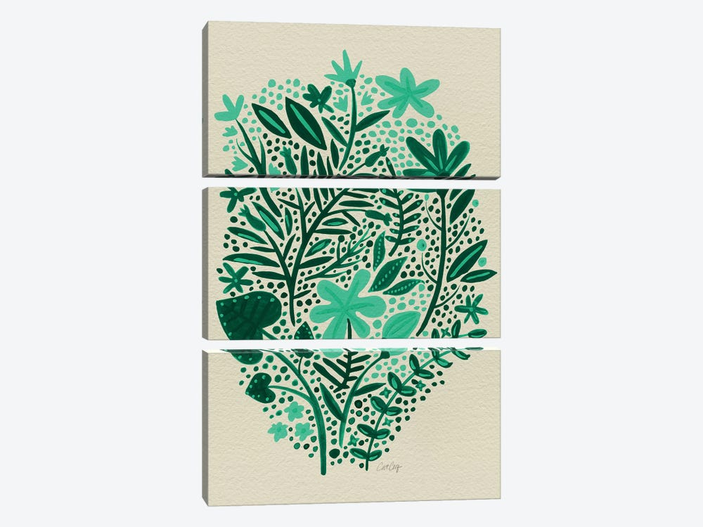 Garden Green Artprint by Cat Coquillette 3-piece Canvas Art